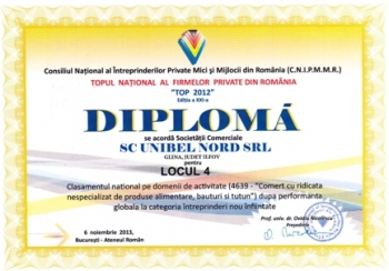 Unibel Nord among TOP 10 Wholesalers in Romania